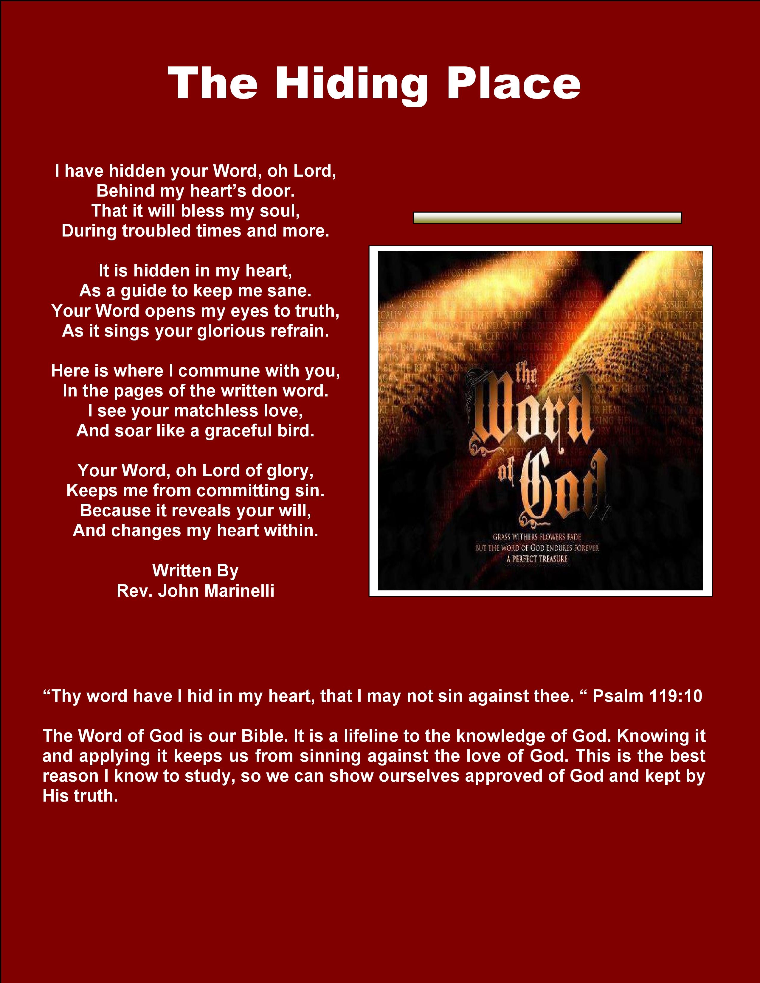 Shepherd's Field · Messiah King · The Blind Man · The Hiding Place